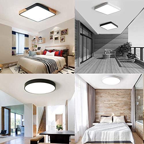 Mount Flush LED Deckenleuchte Untra Square Massivholz Deckenleuchte für Wohnzimmer Schlafzimmer Foyer Blau Dia30xH5cm Kaltweiß
