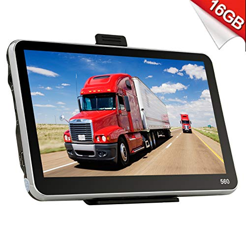 Xgody 560 Portable Truck GPS Navigation System for Car 5 Inch Sat Nav Touch Screen Support Spoken Turn-By-Turn Directions and Speed Limit Displays with Lifetime Free Maps Updated Sunshade by XGODY