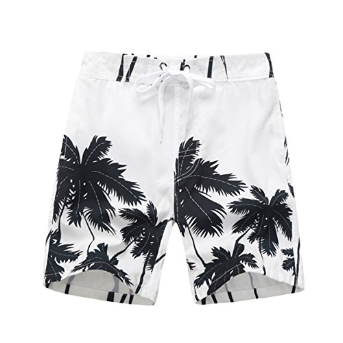 Tailor Pal Love Swim Trunks for Boy Summer Quick Dry Large Pocket Beach Shorts Casual Board Shorts Swimwear Swimsuit White Medium by Tailor Pal Love
