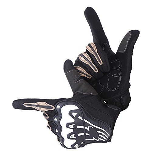 - Anauto 1 Pair Full Finger Motorcycle Motocross Bike Cycling Racing Protective Gloves(M-Black)
