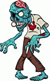 "Zombie Eyes Car Bumper Sticker Decal 3""x 5"""