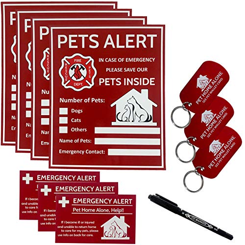 Pets-Alert-Pets-Inside-Sticker-Pets-Safety-Alert-and-Rescue-If-Case-of-EmergencySuccor-can-See-Alert-on-The-WindowDooror-House-to-Rescue-Your-Pets-Inside-4-Pack-with-Wallet-Card-Key-Tag