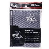 Monster Binders 4PHBK Binder 4 Pocket Monster Holofoil - Black