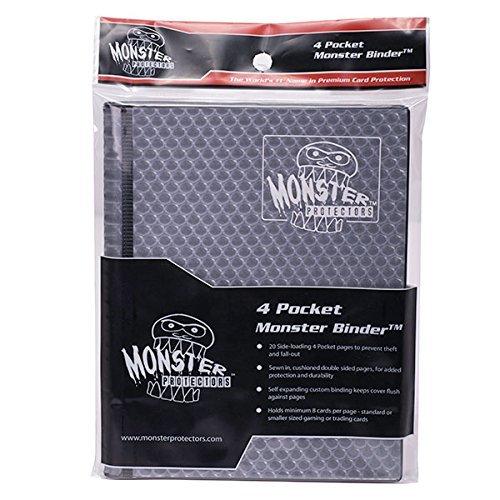 Monster Binders 4PHBK Binder 4 Pocket Monster Holofoil - Black by Monster Protectors