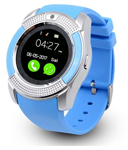 SMARTWATCH V8/IOS/ANDROID (Azul): Amazon.es: Relojes