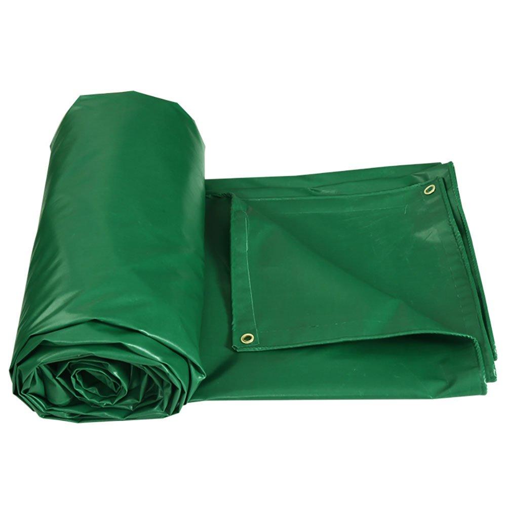 JNYZQ Große verdicken Sie Wasserdichte Plane-schwere Zelt-Spleiß-Markise-Sonnenschatten-Plane Boden-Blatt-Abdeckungen für kampierende Maschine Fischen-Grün, 450 G M ² (größe   4  3m)