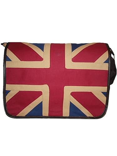40ace8d68d12 Classical boys girls Canvas Embroidered Union Jack Shoulder School  Messenger Bag ipad Bag (1pc)