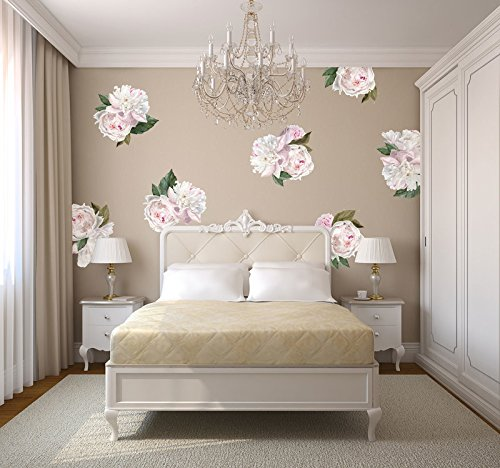 Mini Peonies Flowers- Floral Wall Decal Home Décor by Urban Walls by Urban Walls