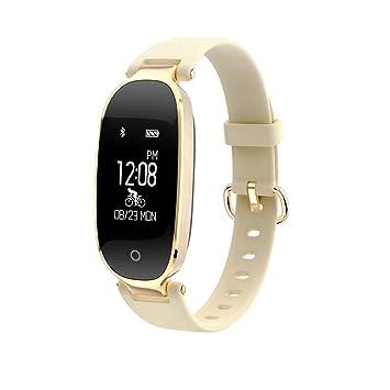 ALKINW Reloj Inteligente Bluetooth Reloj Inteligente para Mujer Monitor De Ritmo Cardíaco Rastreador De Ejercicios Reloj
