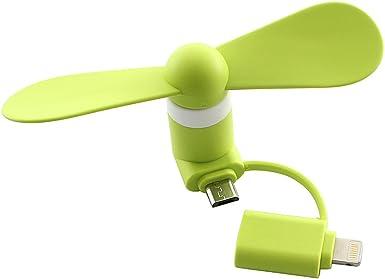 moowee doble cabeza USB Micro teléfono Ventilador, Mini portátil ...