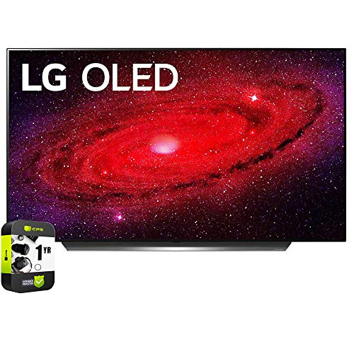 🥇 LG OLED48CXPUB 48 inch CX 4K Smart OLED TV with AI ThinQ 2020 Bundle with 1 Year Extended Protection Plan