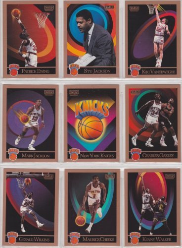 New York Knicks 1990-91 Skybox Basketball Team Set (Series 1 & 2 with Short Prints) (Stu Jackson) (Patrick Ewing) (Kiki Vandeweghe) (Mark Jackson) (Charles Oakley) (Gerald Wilkins) (Maurice Cheeks0 (Kenny - City Kansas Oakley