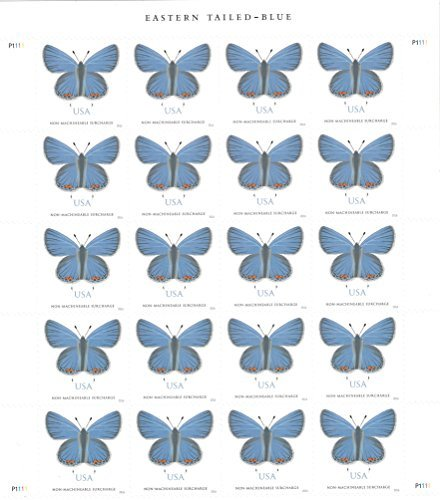 USPS Eastern Tailed-Blue - Sheet of 20 stamps (two-ounce Forever stamps, greeting card, square envelopes, Wedding stamps)