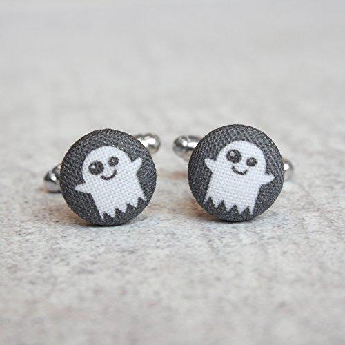 Ghost Fabric Button Cufflinks