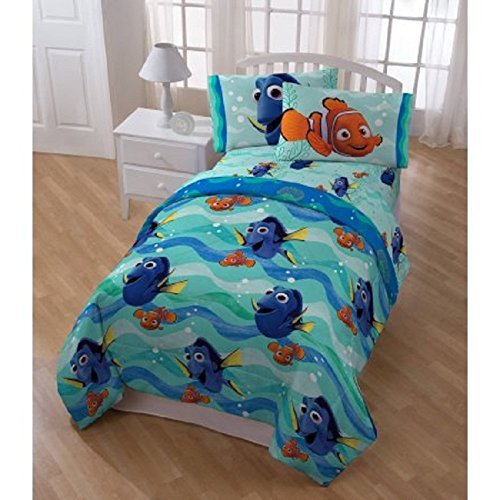 5 Piece Blue Kids Finding Dory Themed Comforter