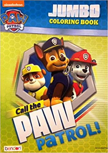 Paw Patrol Jumbo Coloring Book Call The Paw Patrol