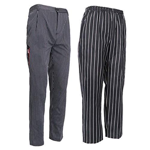 Blesiya Deux En De Coton À Travail 2pcs Mélange Cuisine Poches Pantalon L'entrejambe B fUwqdw