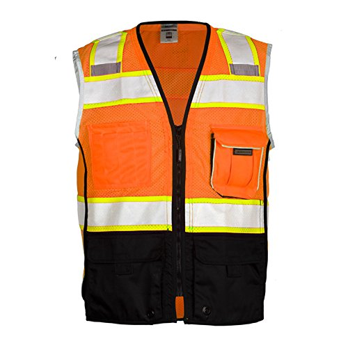 ML Kishigo Class 2 Black Series Vest, Orange, XXXX-Large ()