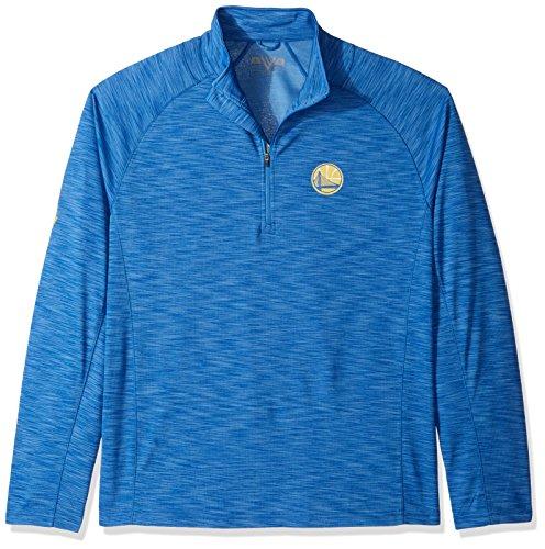 NBA Golden State Warriors Men's Overtime Mobility Mens Quarter Zip Jacket, X-Large, Royal - The Of Quarter Jacket Blue