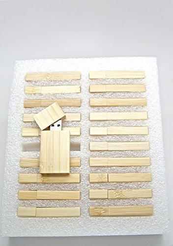 20 8GB Flash Drive - Bulk Pack - USB 2.0 Wooden Bamboo Stick Design - 8 GB Flash Drive by SameDayFlash