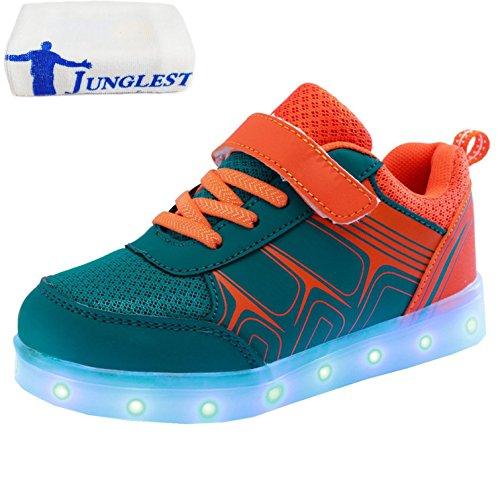 Light Toalla Flashing Sneakers Unisex Luz Mujeres Hombres Colores Luminosos Zapatos Carga USB Presente de LED Up Peque Deportivos junglest c38 Glow a 7 CwZACq