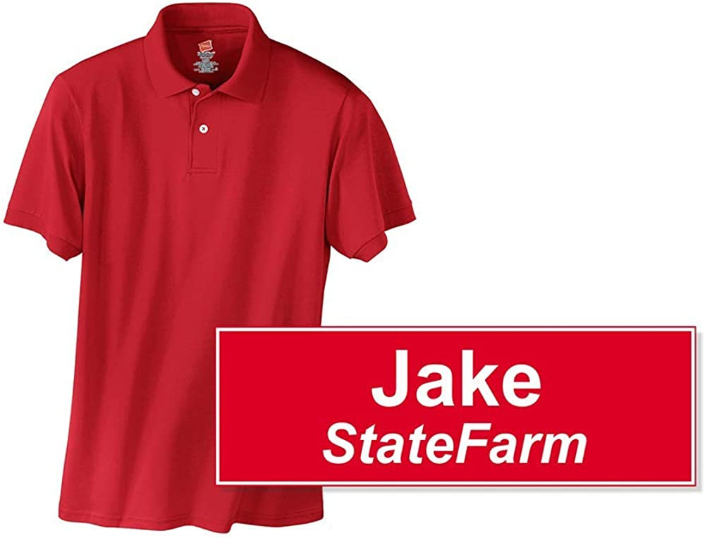 It is a photo of Jake From State Farm Name Tag Printable throughout logo