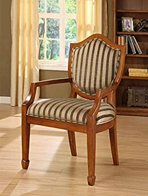 William's Home Furnishing 74019 Occasional Stripe Chair, Multicolor
