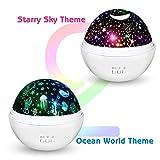 Moredig Kids Night Light, 360° Rotating Starry