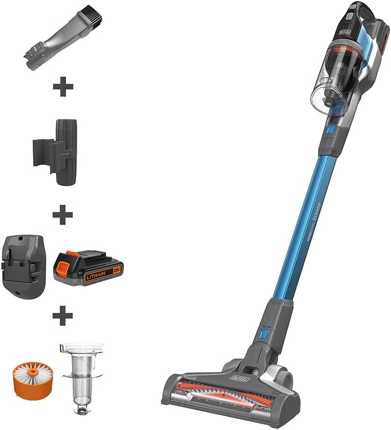 BLACK+DECKER BSV2020G POWERSERIES Extreme Cordless Stick Vacuum Cleaner, Blue
