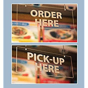 Amazon Com Hanging Signs Order Here Pick Up Here Frost