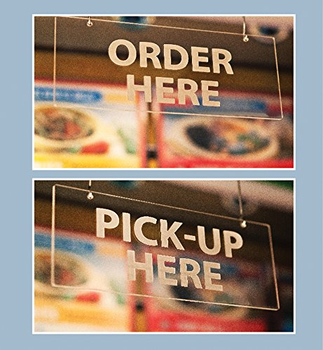 Hanging Signs, Order Here Pick-Up Here Frost (2)