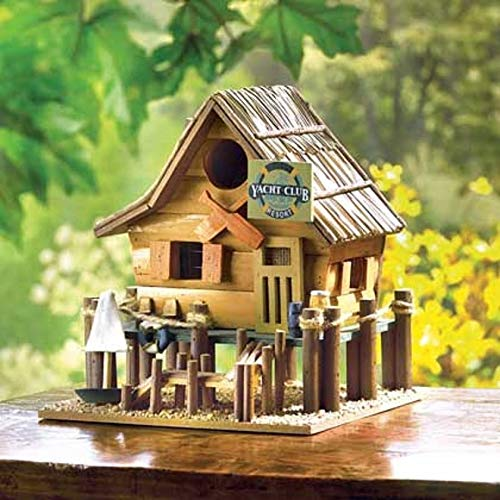 wakatobi Fishing Lake Sailboat Cabin Yacht Club Boat Beach Garden Fairy Wooden Bird ()