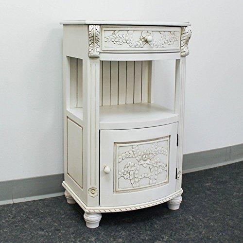 International Caravan 3973-AW-IC Furniture Piece One Drawer Telephone Table