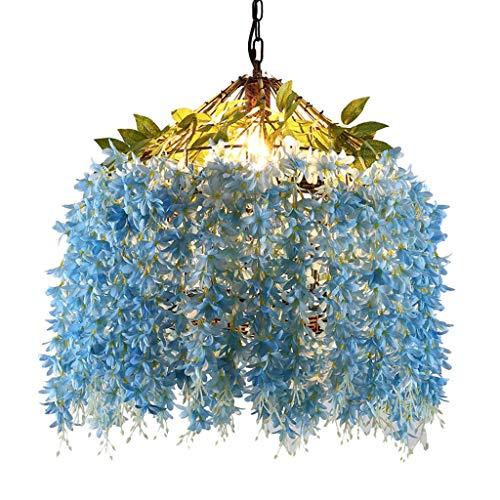 FF Chandelier Artificial Flower Chandelier Party Chandelier Bedroom Restaurant Living Room Decoration Chandelier Gift (Color : Blue, Size : 505060CM) ()