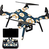 MightySkins Protective Vinyl Skin Decal for 3DR Solo Drone Quadcopter wrap Cover Sticker Skins Mini Galaxy Bots