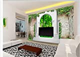 300cmX210cm 3d customized wallpaper garden arch door green forest 3D TV backdrop Home Decoration wall 3d wallpaper,D