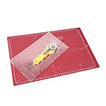 """Sew Easy Quilters Set with 17"""" x 11"""" Cutting Mat, Ruler + 45mm Rotary Cutter"""