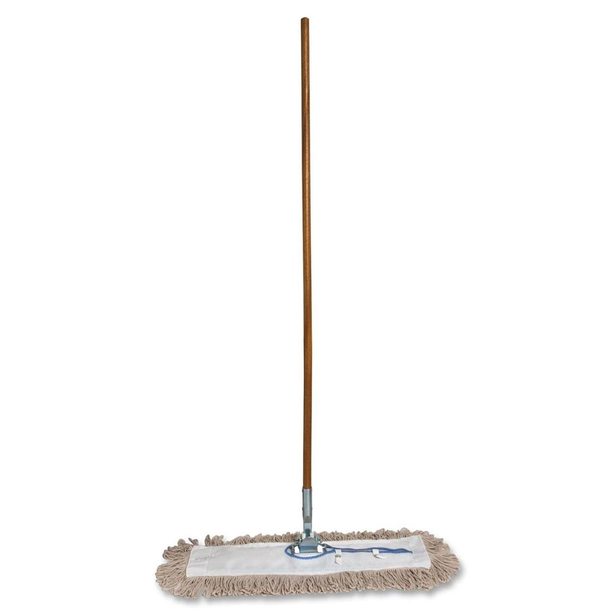 Genuine Joe GJO54101 Lightweight Dust Mop with Handle, 24