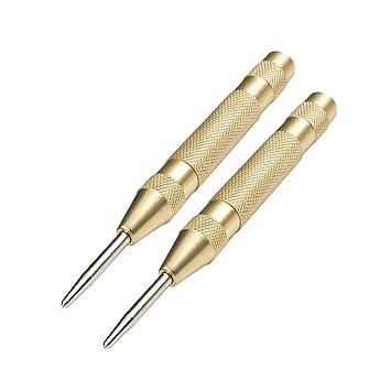 Golden Yardwe 2 ST/ÜCKE Automatische k/örner Metall Messing Federbelastet Automatik K/örner Set mit verstellbarem Hub f/ür Metall oder Holz 130mm