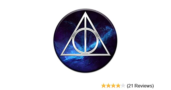 Stickers Only Deathly Symbol Hallows Triangle 2X Sticker Set for Phone Grip Stent Cell Phones Tablets