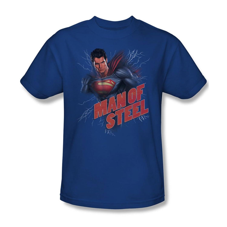 Man Of Steel - Mens Lightning Power T-Shirt