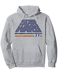 Classic Retro Slanted Logo Striped '77 Hoodie