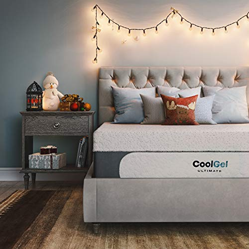 Classic Brands Cool Gel 1.0 Ultimate Gel Memory Foam 14-Inch Mattress with Bonus 2 Pillows