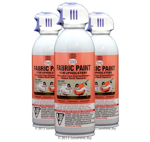 Simply Spray Upholstery Fabric Spray Paint 8 Oz Can 3 Pack Coral Peach Misc In The Uae See
