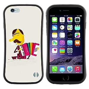 """Pulsar iFace Series Tpu silicona Carcasa Funda Case para Apple (4.7 inches!!!) iPhone 6 Plus / 6S Plus ( 5.5 ) , Arco iris del bigote de Acordeón"""""""