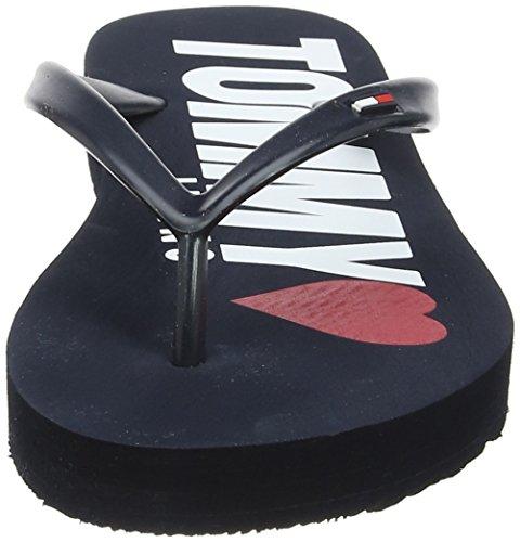 Hilfiger Denim Damen Love TJ Beach Sandal Zehentrenner Blau (Tommy Navy 406)