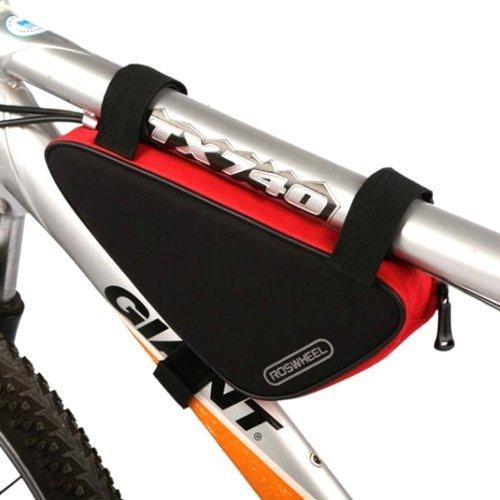 Roswheel Fahrrad Tasche Rahmentasche Werkzeugtasche Dreieckstasche Triangel(rot und schwarz)