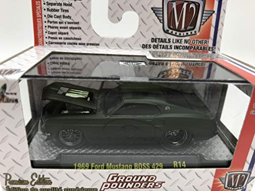 M2 Machines Ground Pounders 1969 Ford Mustang BOSS 429 1:64 Scale R14 15-06 Matte Dark Green Details Like NO Other! Over 42 -