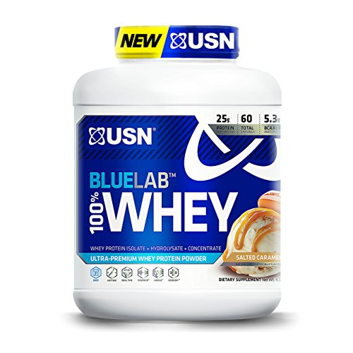 USN BlueLab 100 Percent Whey, 4.5 Pounds, Salted Caramel