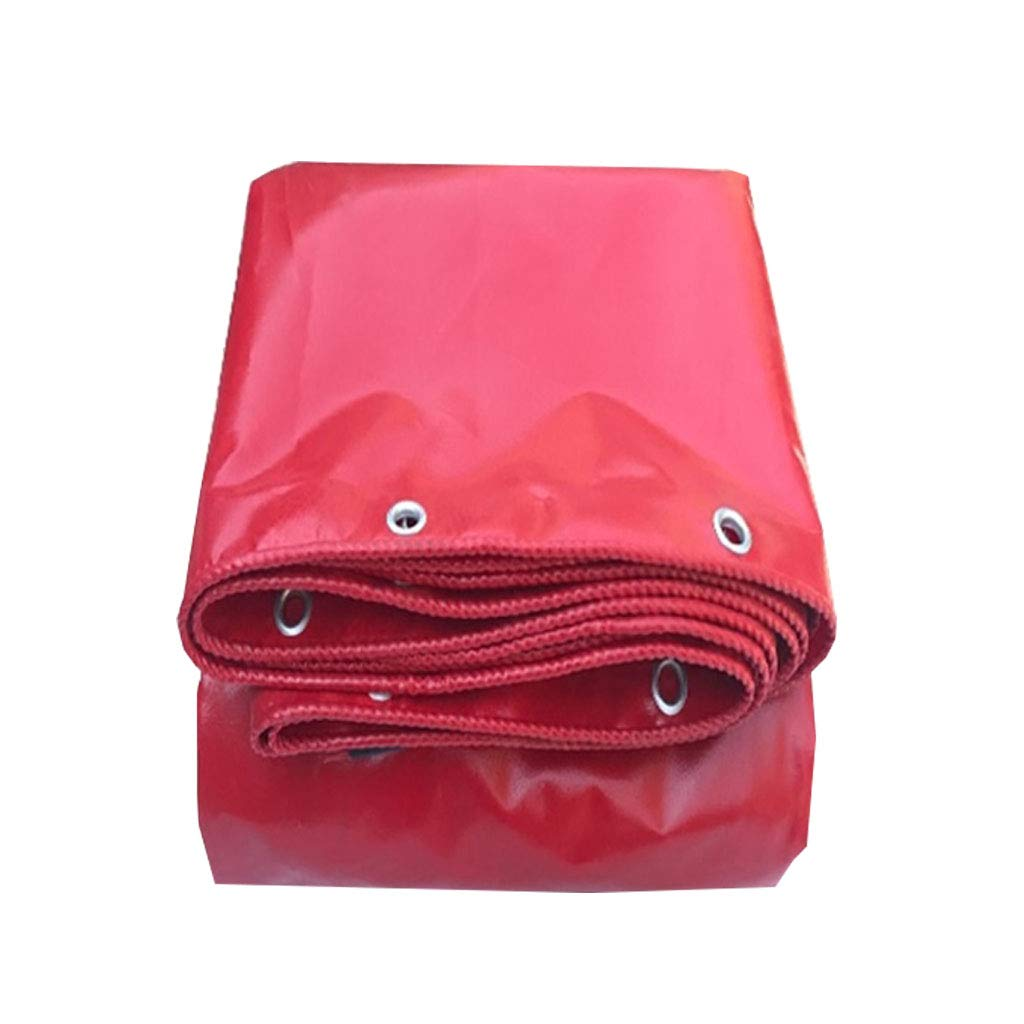 YX-Planen Mehrzweck-Planenblatt Premium-Qualitätscover Starkes Reversible Rot - 100% wasserdicht und UV-geschützt - Dicke 0,42 mm, 530 g m²